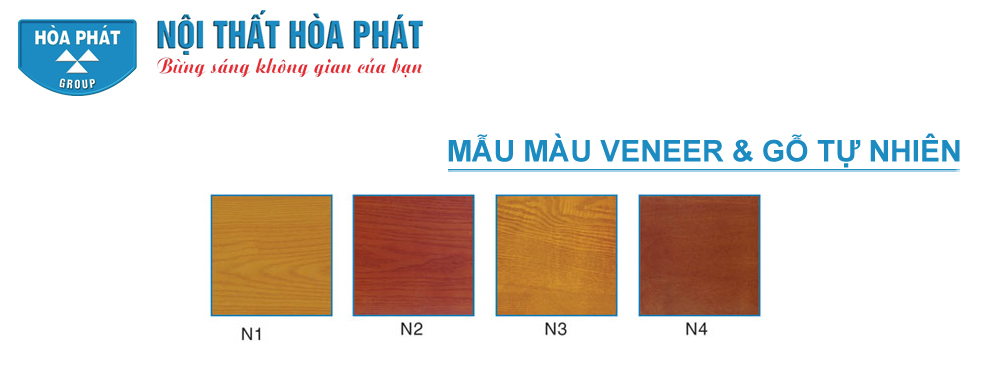 Màu gỗ phủ veneer và tự nhiên